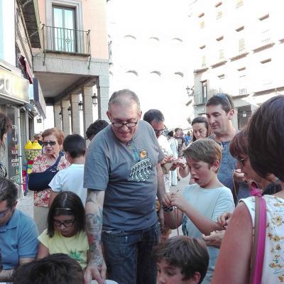AGOSTO2017 Segovia celebra sus 25 años sin tráfico bajos su Acueducto. Foto: Eva Callejo.