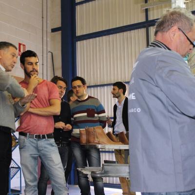 15FEBRERO2013 Mario Casas visitó las instalaciones de MTNG Experience.