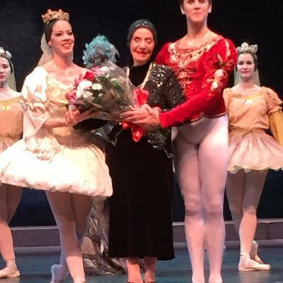 """21OCTUBRE2015 """"El lago de los cisnes"""" estuvo en el Tívoli.Alicia Alonso en la primera representación con las dos primeras estrellas."""