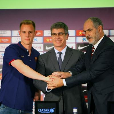 22MAYO2014 Primeros fichajes del FC Barcelona Ter Stegen, portero. Foto: Ricard Rovira.