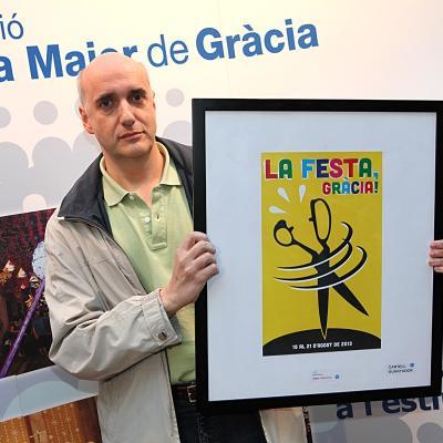 10MAYO2013 Presentación del cartel de la Fiesta Mayor de Gracia 2013.