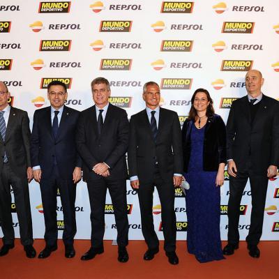 05FEBRERO2018 El tenis campeón absoluto en la Gran Gala del Mundo Deportivo. Miembros del Barça.  Foto: Montse Carreño.