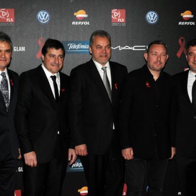 25NOVIEMBRE2013 Cuarto año en Barcelona de la Gala del Sida. Los cocineros que juntos formaron 16 estrellas Michelin, entre ellos Nando Jubany y Hosep Roca (i)  Foto: Montse Carreño.
