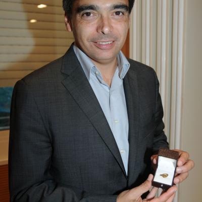 22NOVIEMBRE2011 Presentación del equipo de Copa Davis y entrega de la insignia de oro de RFET a Albert Soler. Foto: Montse Carreño.