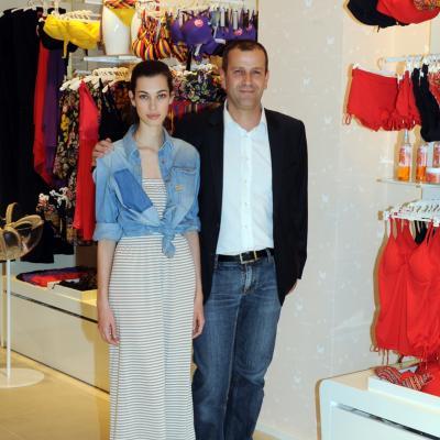 20JUNIO2013 Inauguración de la nueva Flagship Store de Yamamay, en Barcelona. Laura Sánchez y Antonio Piemonti. Foto: Montse Carreño.