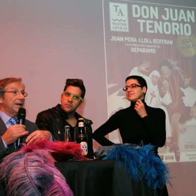 12DICIEMBRE2013 Don Juan Tenorio, ara musical con Joan Pera, Lloll Bertran i Deparamo. Foto: Montse Carreño.