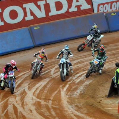 11ENERO2014 Dirt Track en el Palau San Jordi. Foto: Manel Martin.