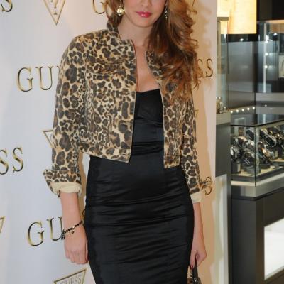 15DICIEMBRE2011 Inauguración de la nueva tienda Guess Accesorios en Barcelona. Elisabeth Reyes. Foto: Montse Carreño.