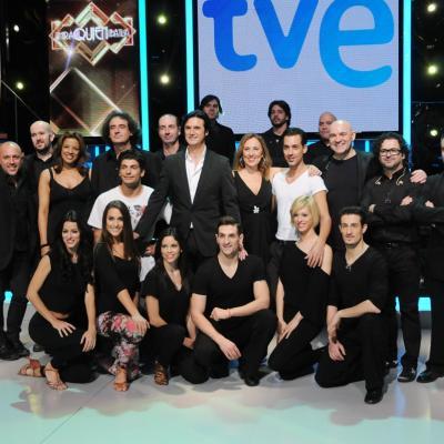 23ENERO2014 Vuelve a la 1 de TVE el programa ¡Mira quién baila!. Orquesta y bailarines. Foto: Montse Carreño.