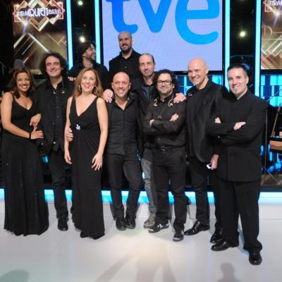 23ENERO2014 Vuelve a la 1 de TVE el programa ¡Mira quién baila!. Orquesta. Foto: Montse Carreño.