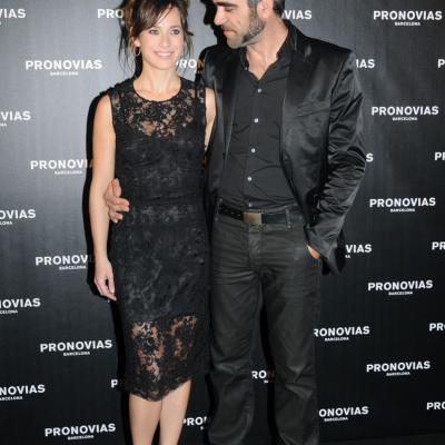 13MAY011 Barcelona Bridal Week - Pronovias Colección 2012. Marta Etura y Luis Tosar. Foto: Montse Carreño.