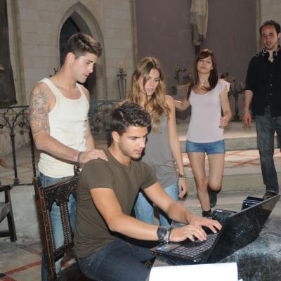 30MAYO2011 Rodaje de la película XP3D, en Can Bros (Martorell). Foto: Montse Carreño.