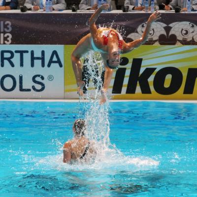 27JULIO2013 Medalla de plata en combo y Ona Carbonell que ganó siete medallas. Holanda. Foto: Manel Martin.