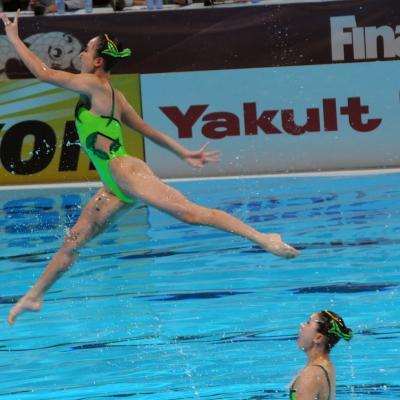 27JULIO2013 Medalla de plata en combo y Ona Carbonell que ganó siete medallas. Korea. Foto: Manel Martin.