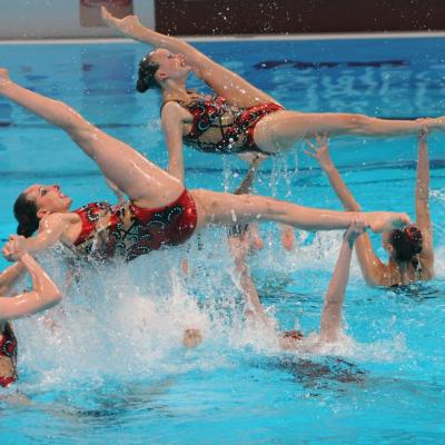 27JULIO2013 Medalla de plata en combo y Ona Carbonell que ganó siete medallas.Rusia.  Foto: Manel Martin.
