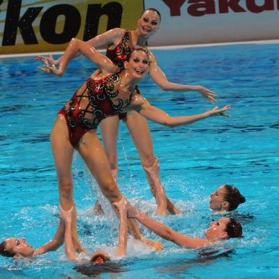27JULIO2013 Medalla de plata en combo y Ona Carbonell que ganó siete medallas. Rusia. Foto: Manel Martin.