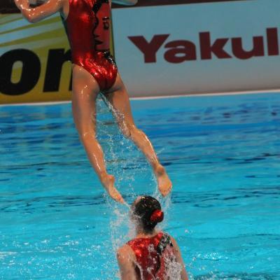 27JULIO2013 Medalla de plata en combo y Ona Carbonell que ganó siete medallas.Japón.  Foto: Manel Martin.