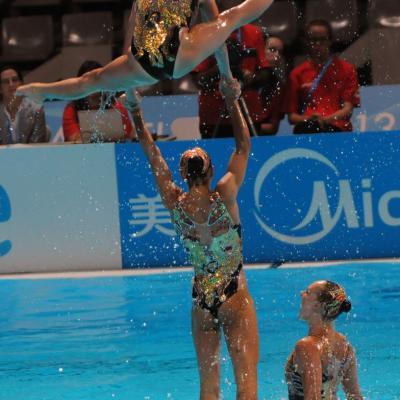 27JULIO2013 Medalla de plata en combo y Ona Carbonell que ganó siete medallas. Canada. Foto: Manel Martin.