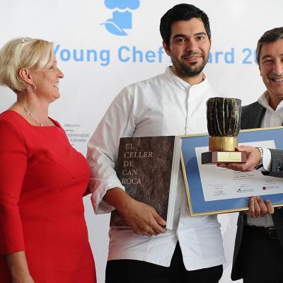 14NOVIEMBRE2016 European Young Chef Award 2016 en Sant Pol de Mar. Entrega premio al ganador.  Foto: Montse Carreño.