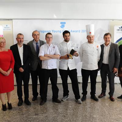 14NOVIEMBRE2016 European Young Chef Award 2016 en Sant Pol de Mar. Finalistas y jurado. Foto: Montse Carreño.