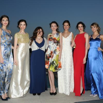 11ABRIL2013 Desfile de Olga Macià con la Miss España, Andrea Huisgen. Foto: Montse Carreño.