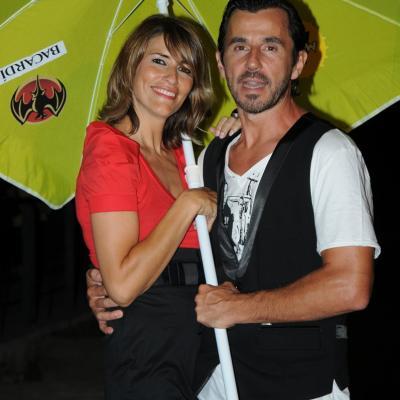 13JULIO2011 Inauguración del Restaurante Beach Club Boo. Santi Millán y su esposa Rosa. Foto: Montse Carreño.
