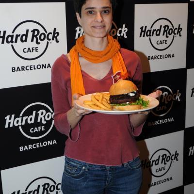 17ABRIL2013 Hard Rock Café ya tiene su hamburguesa Barcelona. La ganadora. Foto: Montse Carreño.