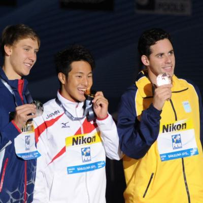 04AGOSTO2013 Clausura y medalla de plata de Mireia Belmonte. Ceremonia 400m estilo. Foto: Manel Martin.