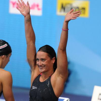 04AGOSTO2013 Clausura y medalla de plata de Mireia Belmonte. Foto: Manel Martin.