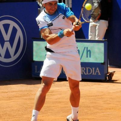 28ABRIL2013 Open Banc Sabadell -61º Trofeo Conde de Godó. David Ferrer, derrotado en primera ronda. Foto: Montse Carreño.