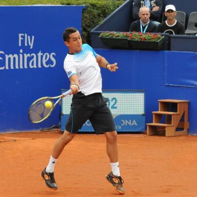 28ABRIL2013 Open Banc Sabadell -61º Trofeo Conde de Godó. Nico Almagro. Foto: Montse Carreño.