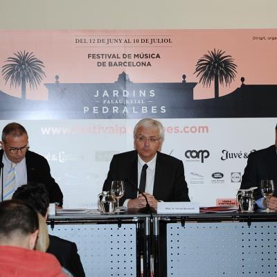 21MARZO2014 Presentación del cartel del Festival Jardins de Pedralbes 2014. Foto: Montse Carreño.