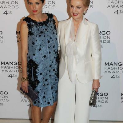 30MAYO2012 Entrega de la 4ª edición de los Mango Fashion Awards. Carolina Herrera y su hija, Carolina Adriana. Foto: Montse Carreño.