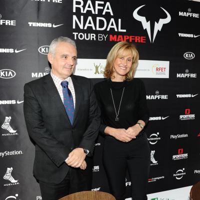 17DICIEMBRE2014 Acuerdo entre la Fundación Rafa Nadal y la RFET por el Rafa Nadal Tour by Mapfre. Foto: Montse Carreño.