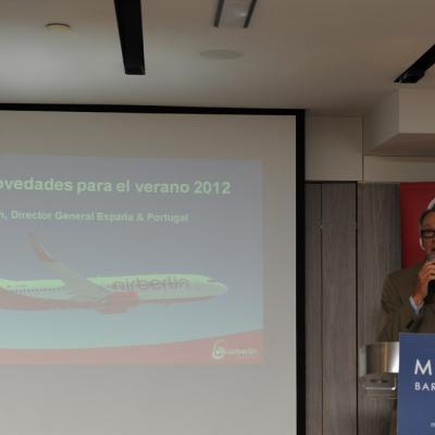 11ABRIL2012 Rueda de prensa de Airberlin para presentar sus nuevas propuestas para el verano 2012. Foto: Manel Martin.