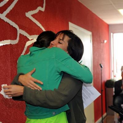 30ENERO2013 Andrea Fuentes llama a la paz el día de su retirada de la sincronizada. Foto: Manel Martin.