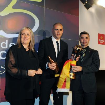 20DICIEMBRE2011 Festa de l'esport català. Mejor deportista masculino catalán del año, Victor Valdés. Foto: Manel Martin.
