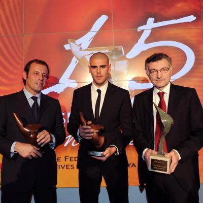 20DICIEMBRE2011 Festa de l'esport català. Premio al mejor equipo masculino, Futbol Club Barcelona. Foto: Manel Martin.