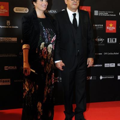03FEBRERO2013 Gala de los Premios Gaudi de la Academia del Cine Catalán. Andreu Buenafuente y señora.Foto: Manel Martin.