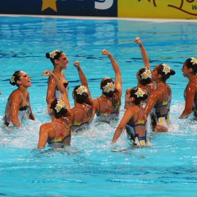 27JULIO2013 Medalla de plata en combo y Ona Carbonell que ganó siete medallas. México. Foto: Manel Martin.