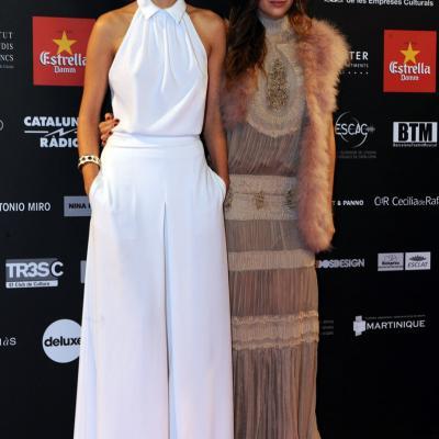 03FEBRERO2013 Gala de los Premios Gaudi de la Academia del Cine Catalán. Aina Clotet y Ursula Corberó. Foto: Manel Martin.