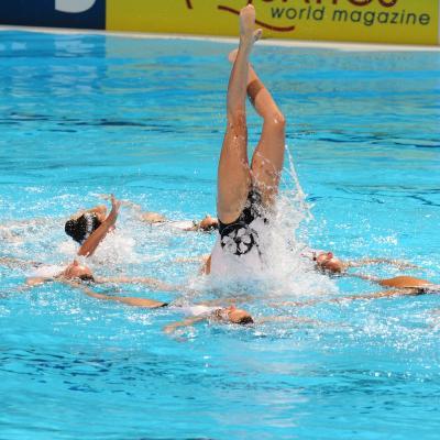 27JULIO2013 Medalla de plata en combo y Ona Carbonell que ganó siete medallas. Francia. Foto: Manel Martin.