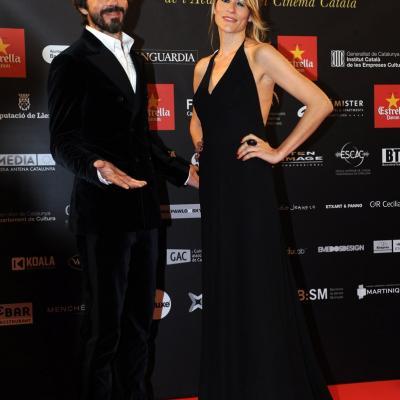 03FEBRERO2013 Gala de los Premios Gaudi de la Academia del Cine Catalán. Santi Millán y señora. Foto: Manel Martin.