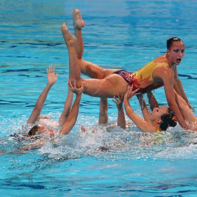 27JULIO2013 Medalla de plata en combo y Ona Carbonell que ganó siete medallas.Suiza.  Foto: Manel Martin.