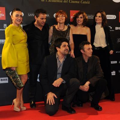 """03FEBRERO2013 Gala de los Premios Gaudi de la Academia del Cine Catalán.Grupo película """"Una pistola en cada mano"""". Foto: Manel Martin."""