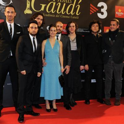 """03FEBRERO2013 Gala de los Premios Gaudi de la Academia del Cine Catalán. Grupo película """"Lo imposible"""". Foto: Manel Martin."""