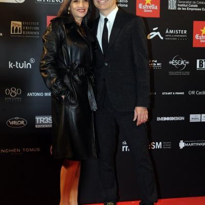 03FEBRERO2013 Gala de los Premios Gaudi de la Academia del Cine Catalán. Angela MOlina y Pablo Berger. Foto: Manel Martin.