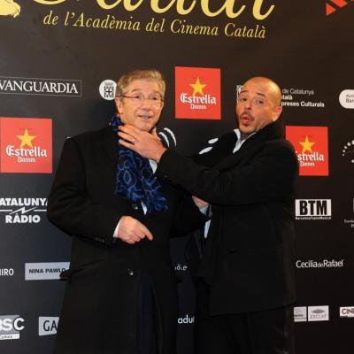03FEBRERO2013 Gala de los Premios Gaudi de la Academia del Cine Catalán. Joan Pere e hijo. Foto: Manel Martin.