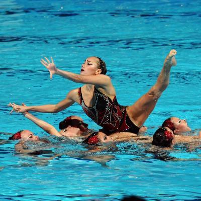 27JULIO2013 Medalla de plata en combo y Ona Carbonell que ganó siete medallas.Ucrania Foto: Manel Martin.