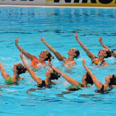 27JULIO2013 Medalla de plata en combo y Ona Carbonell que ganó siete medallas.Italia. Foto: Manel Martin.